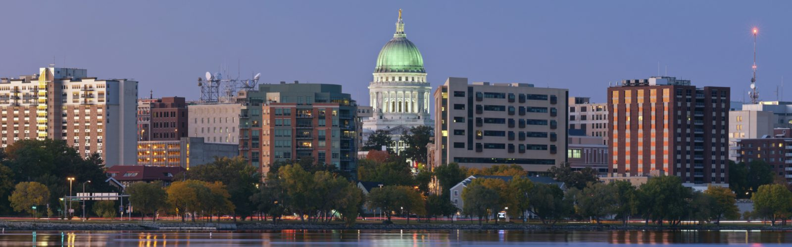 Picture of Madison, view from the lake.